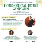 Flier with speaker names for UCSB Bren's EJ Symposium 2020
